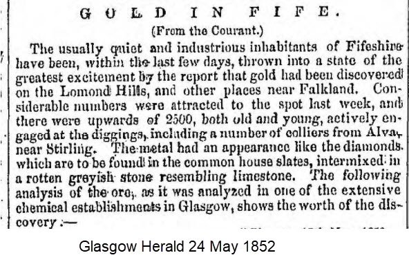 Gold in Fife article